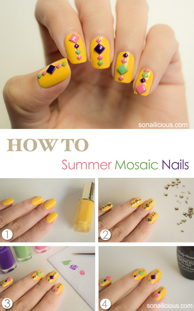 summer nail art tutorial