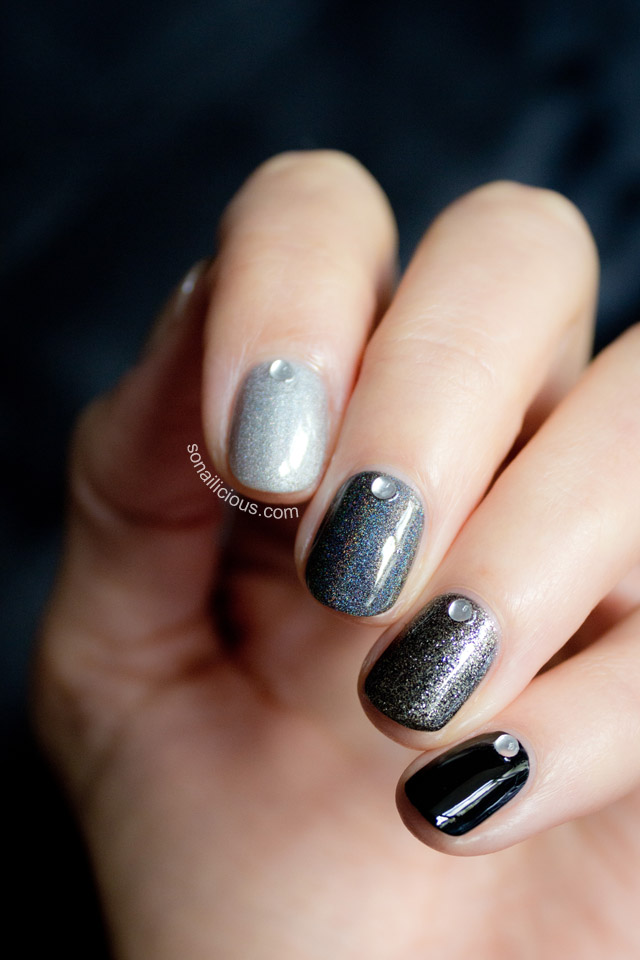 Ombre Black Nails With Jacqueline Burchell Kit