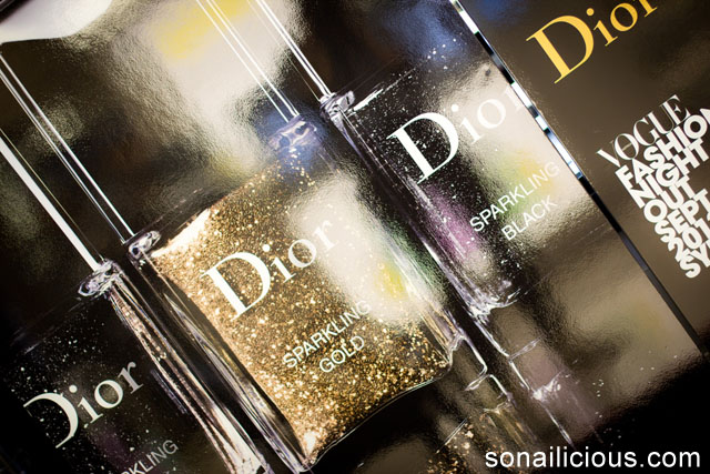christian dior sparkling nail powders set