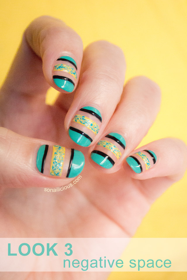 negative space nail art designs, textured nails