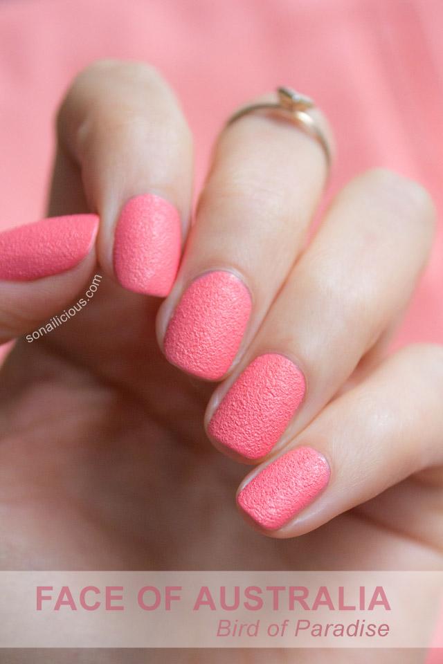 Facial blue nail polish