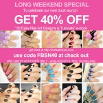 40% OFF our Nail Art Tutorials Book