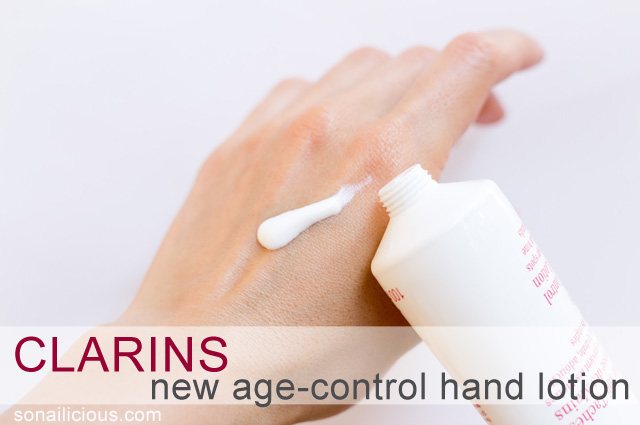 clarins new age control hand lotion review