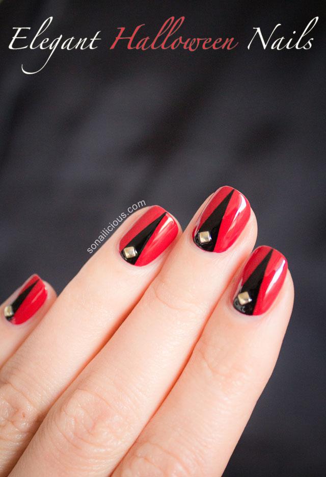 Halloween Nail Art Tutorial II Elegant Halloween Nails