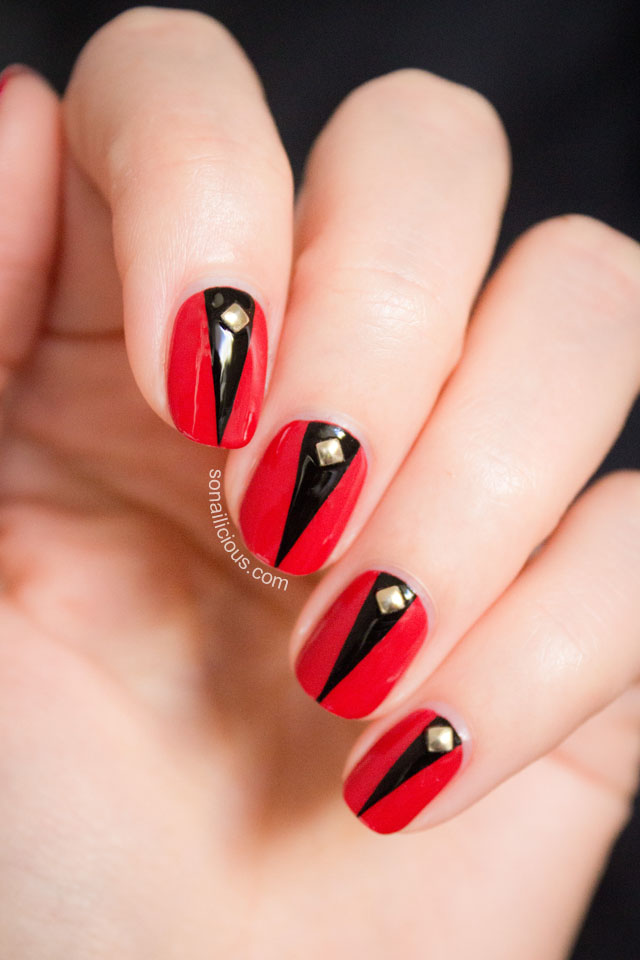 Black Nail Design as well Red And Black Nails as well Ombre Nail Art