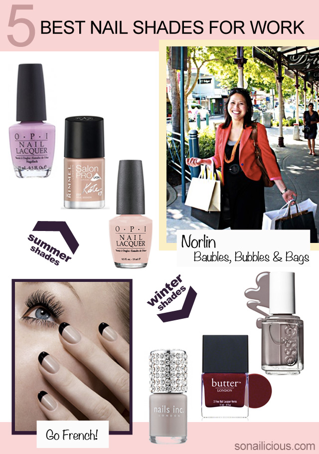 5 Best Nail Colors for Work: Guest Post by Norlin Mustapha