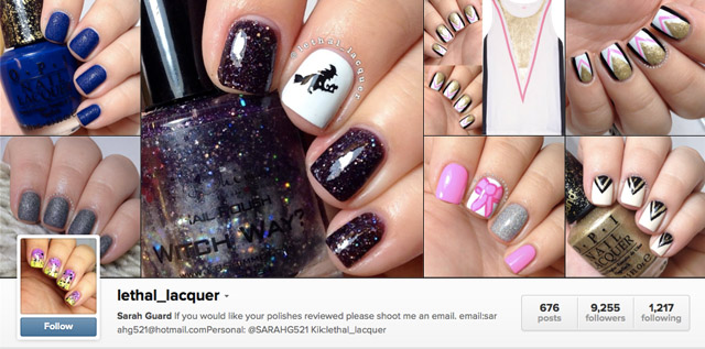 lethal lacquer instagram nails