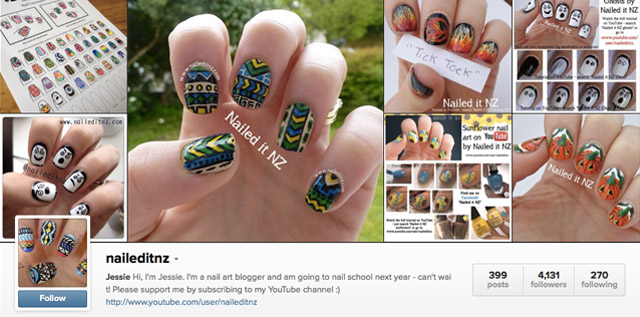 nailed it nz instagram nails