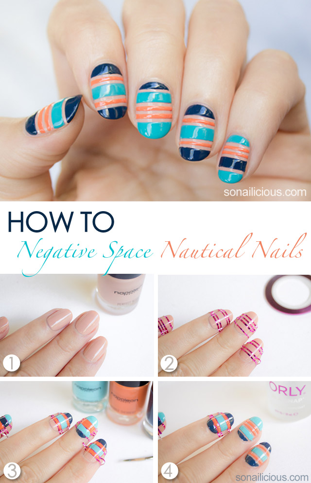 Nautical Nails Tutorial Nautial How To