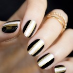 Black and Gold New Year's Nails – 2013 Version