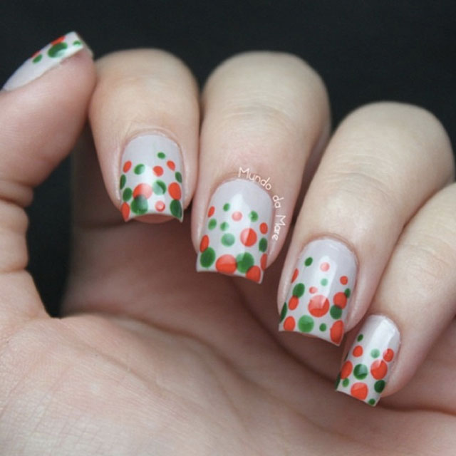 Christmas dotticure by @blogmundodamare