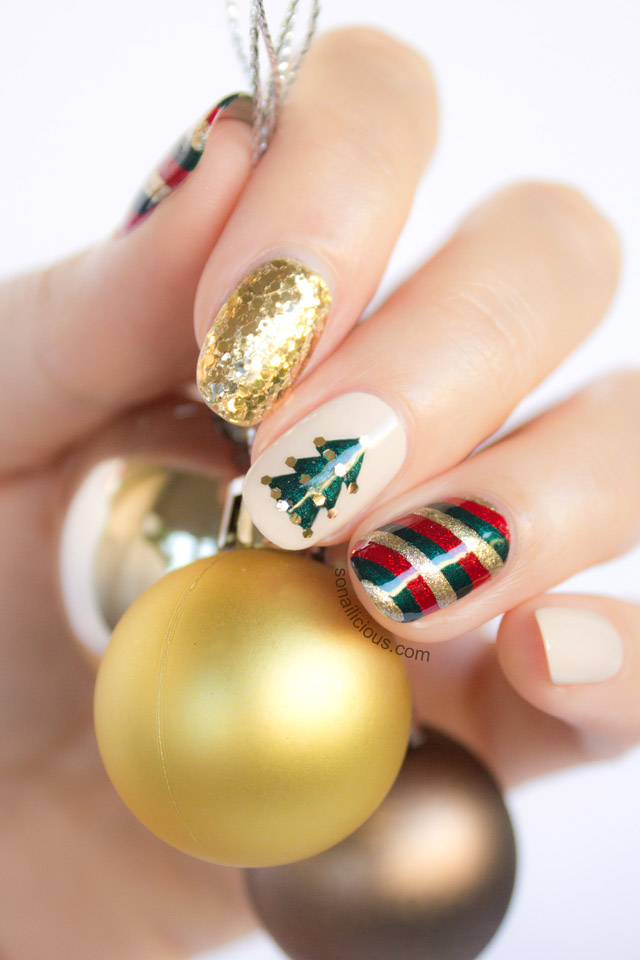 Mixnmatch Christmas Nail Art Tutorial
