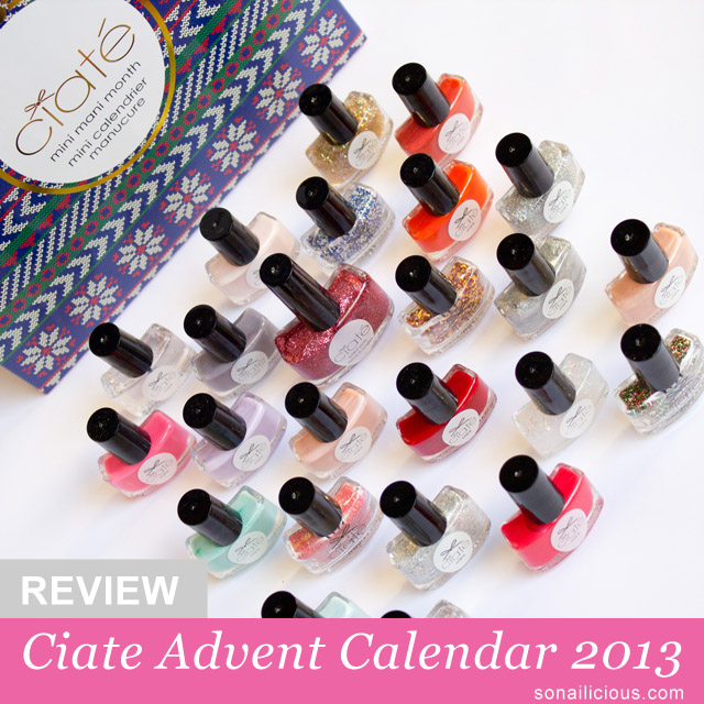 Ciate Advent Calendar 2013 - Review by SoNailicious