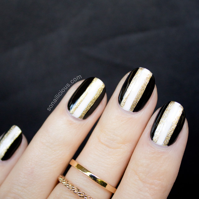 elegant new years nails