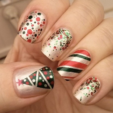 green and red christmas nailsswtandsxy8  sonailicious