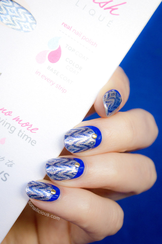 Ruffian Ikat Nails With Incoco Nail Strips Tutorial