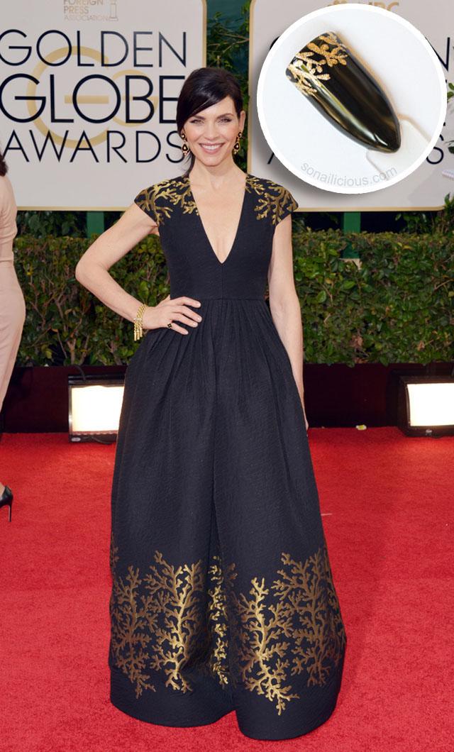 6 Nail Art Worthy Golden Globes 2014 Dresses