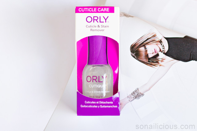 ORLY CUTIQUE cuticle remover review, before and after shots