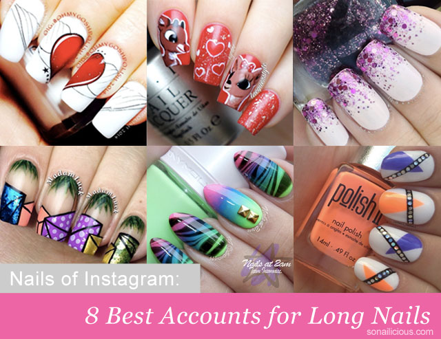 best nail art instagram long nails