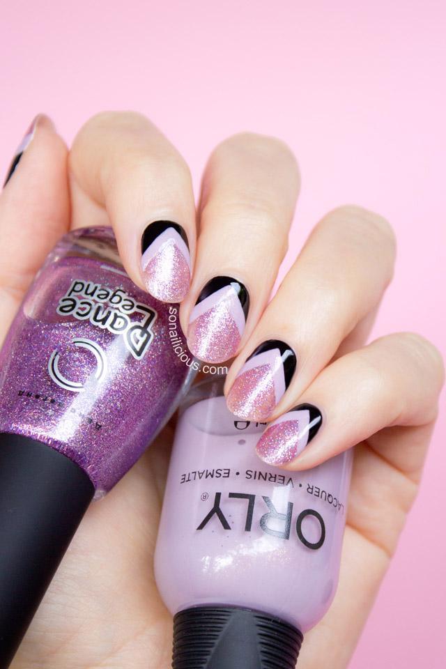 dance legend nail polish pink glitter