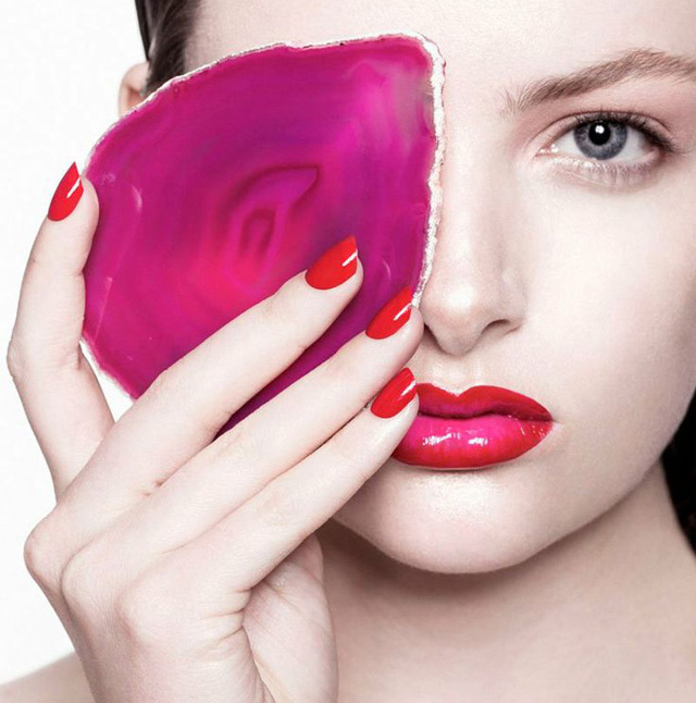 Ombre red lips, Siobhan O'Keefe for Fashion Gone Rogue