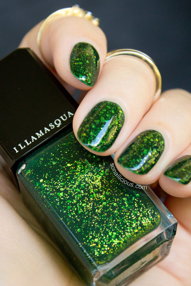 illamasqua destiny green nail polish