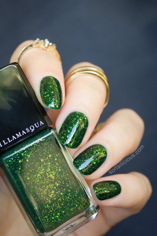 illamasqua destiny review swatches green nails