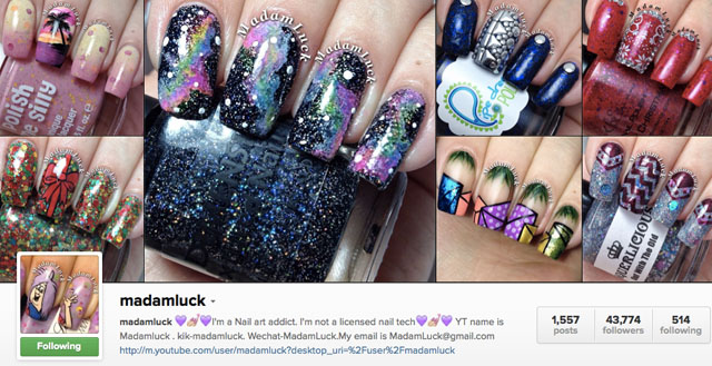madam luck instagram nails