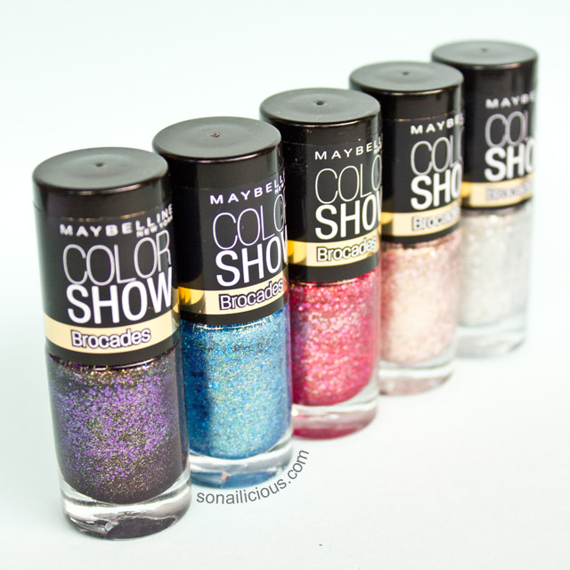 maybelline brocade new glitter nail polish