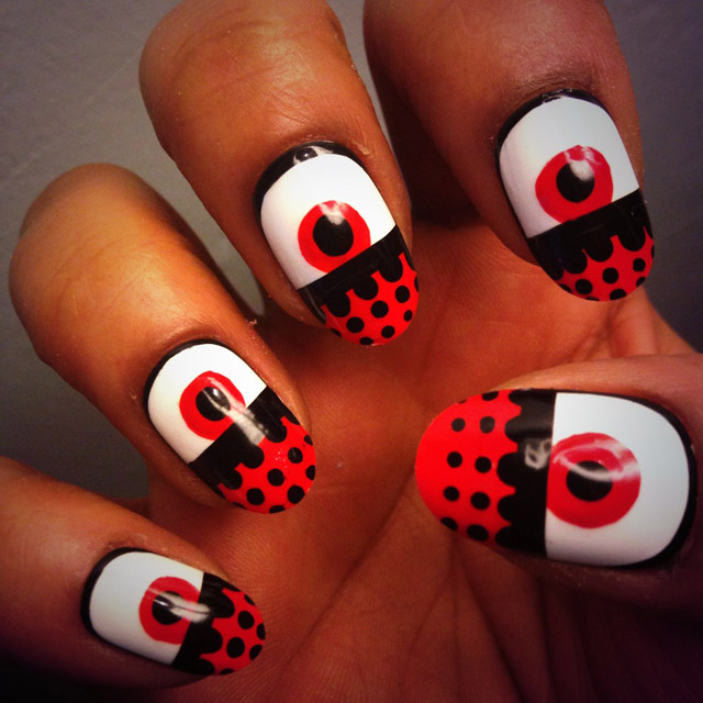 Graphic Eye Nails by Sabrina Gayle
