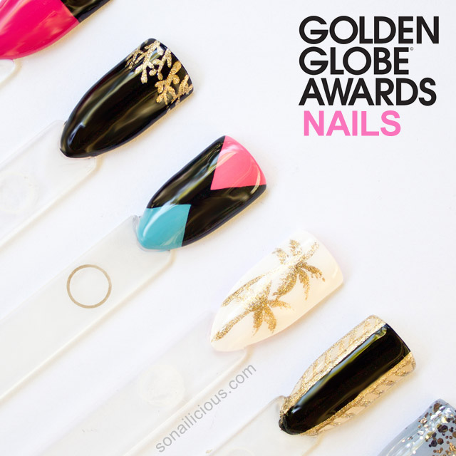 the golden globes 2014 nails dresses 1