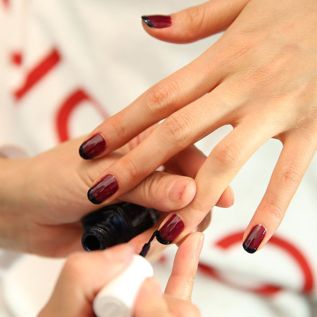 Classic French nails by Essie at Rebecca Minkoff