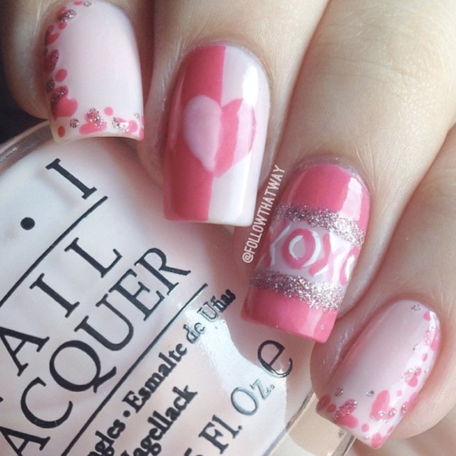 Hearts U0026 Kisses Valentines Day Nails By @followthatway