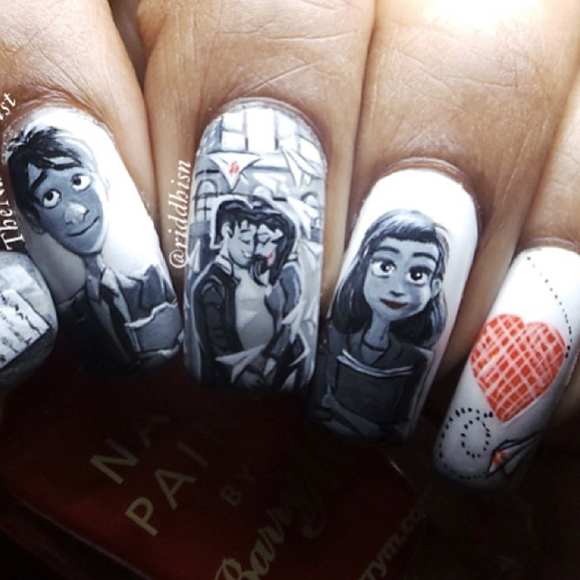 Paperman by Dysney nails by @riddhisn