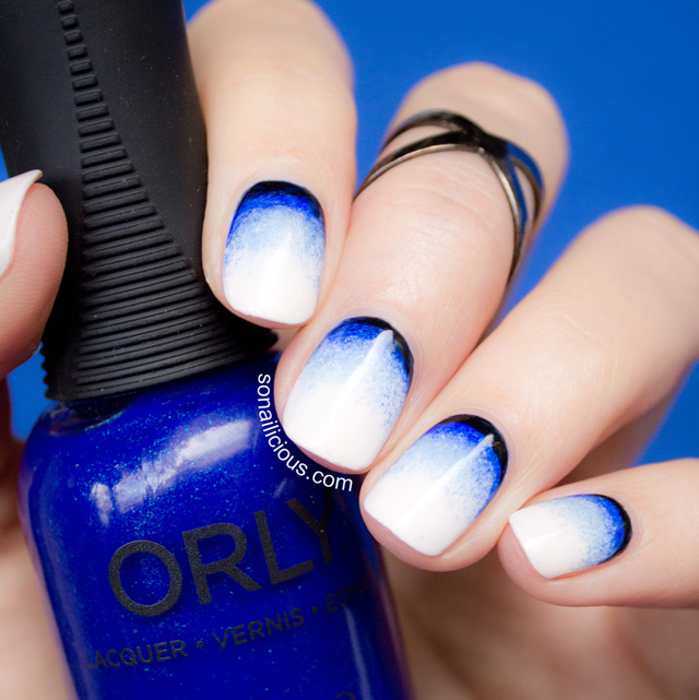 Ruffian gradient nails with Orly
