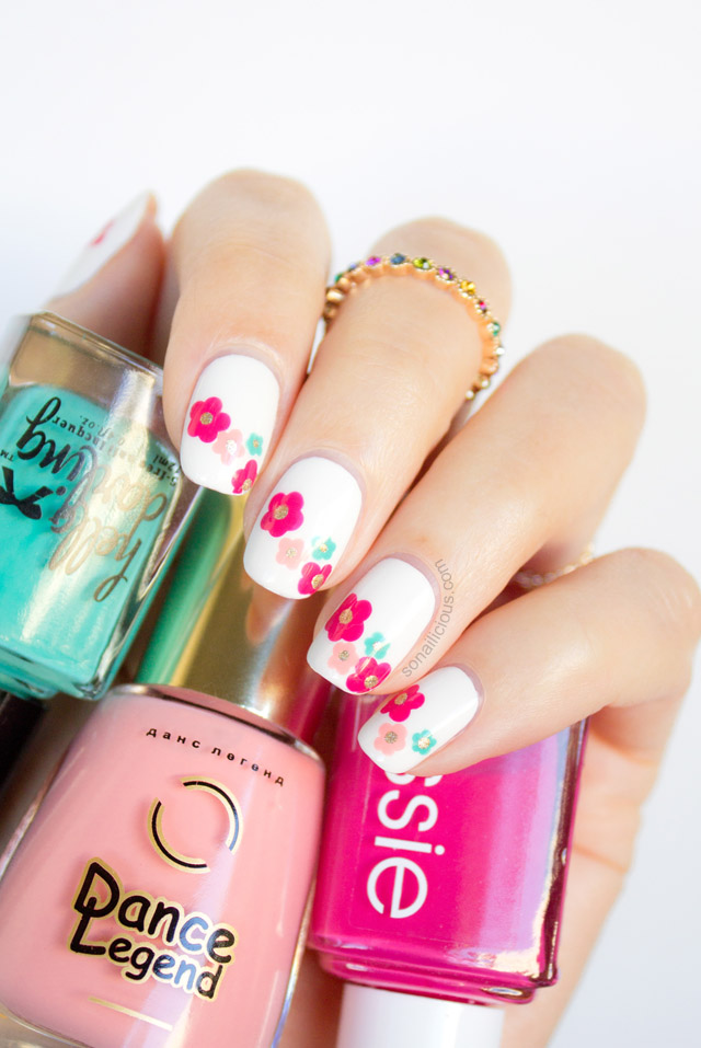 Marc jacobs daisy delight spring nail art tutorial beautiful spring nail art tutorial prinsesfo Choice Image