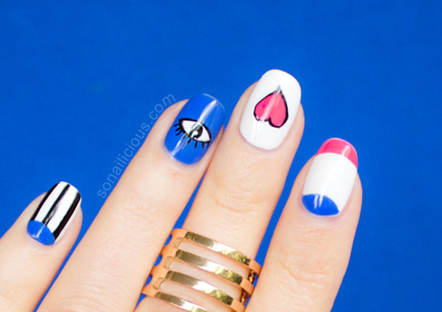 funky town valentines day nail art tutorial