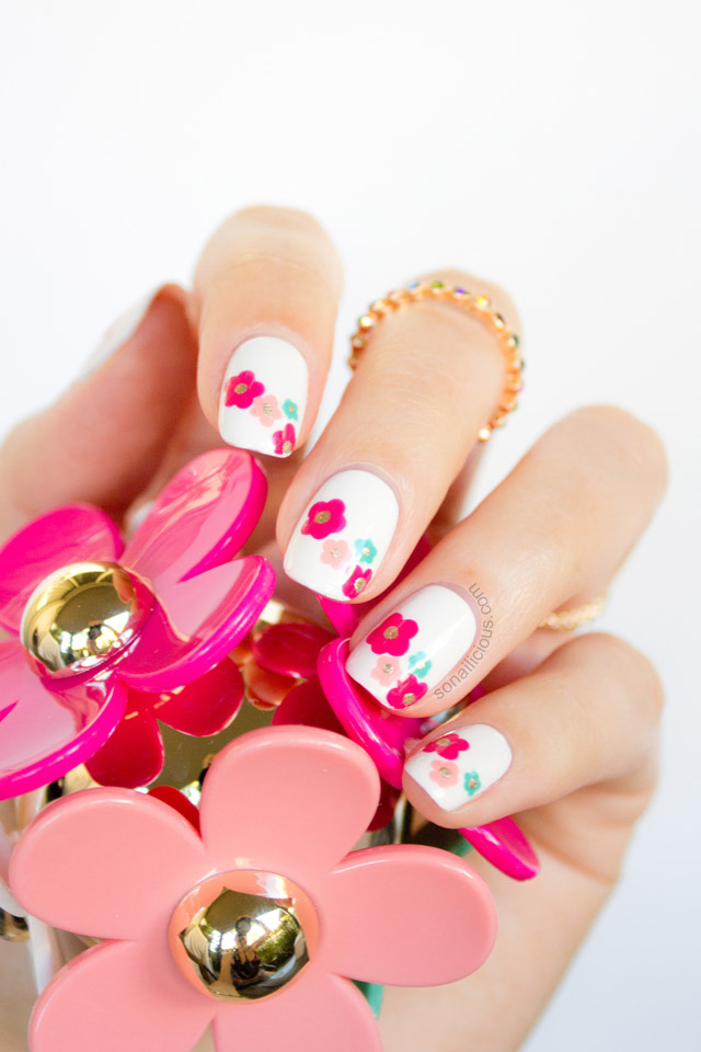 marc jacobs daisy delight spring nail art tutorial