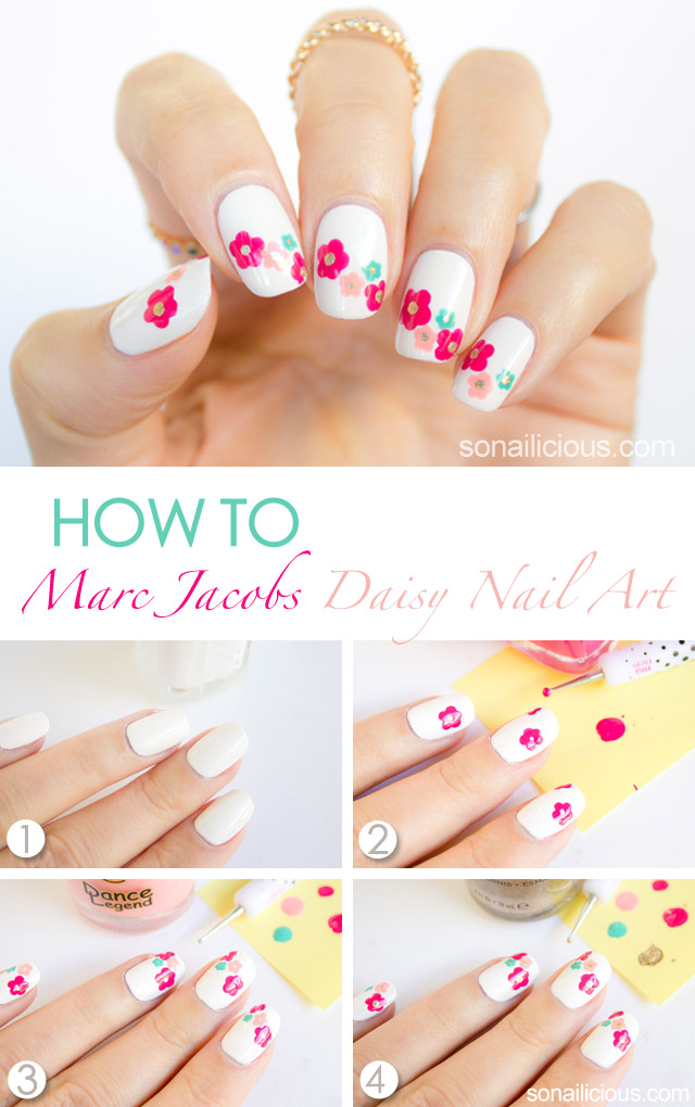 marc jacobs daisy nail art how to