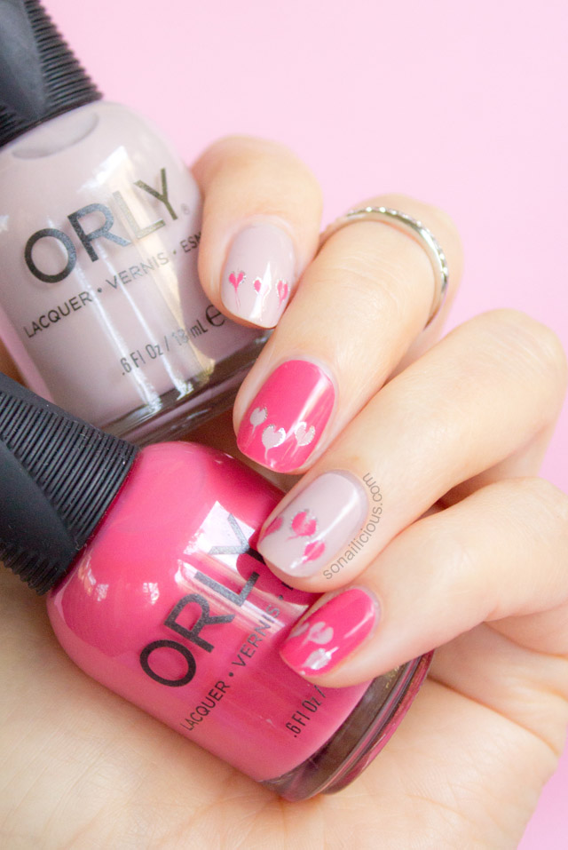 pink valentines day nails orly first blush