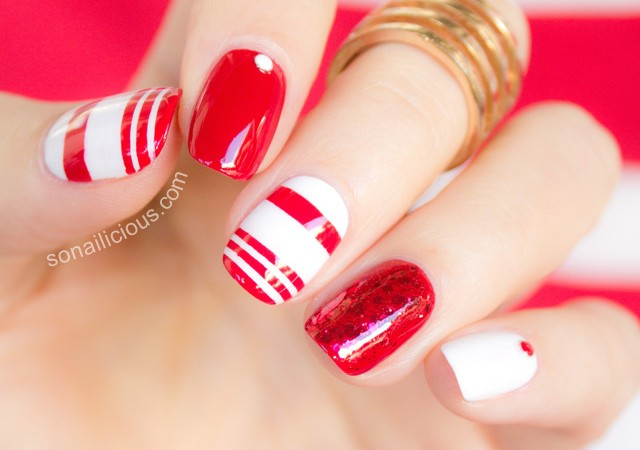 red-and-white-nail-designs-640x450 - Nail Design Red And White - Nail Arts