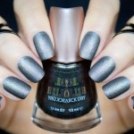 1 Polish – 2 Ways: Severina Gunmetal Black Matte