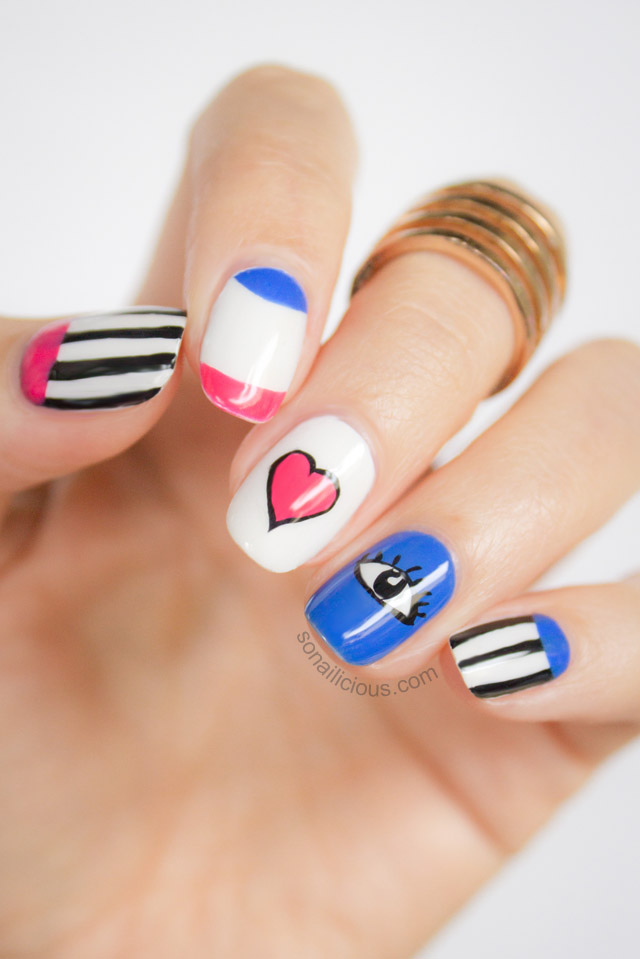 valentines day nail art tutorial 1