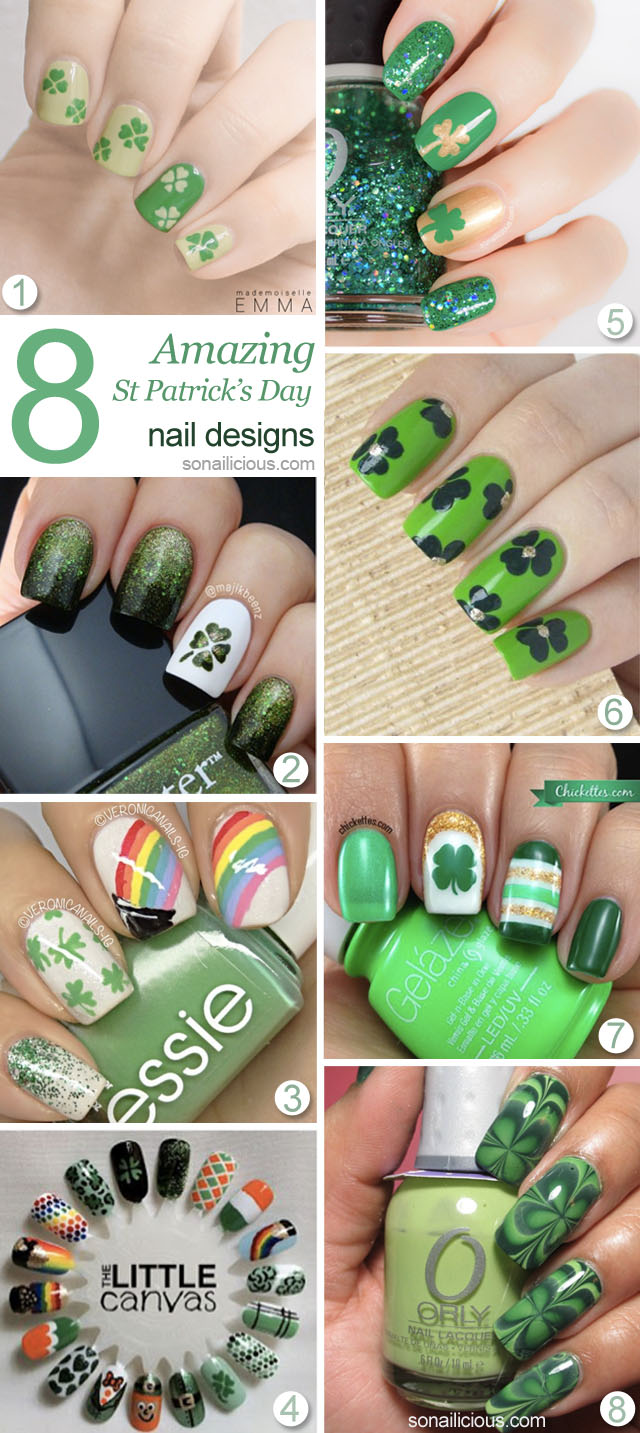 8 Amazing St patricks day nails