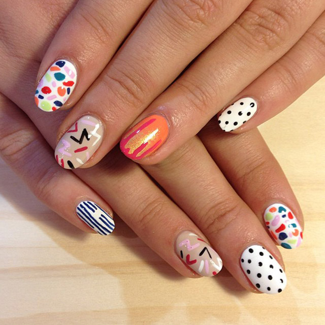 Geomteric Nails by Trophy Wife Nail Art