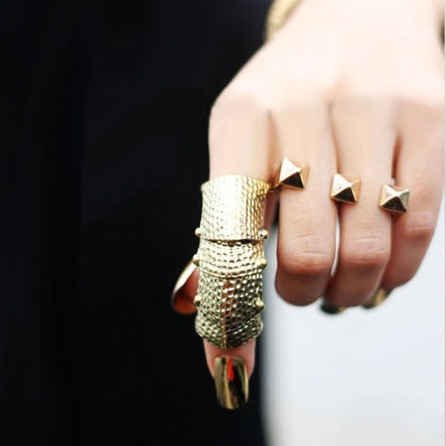 Gold Nail, Gold Armour Ring