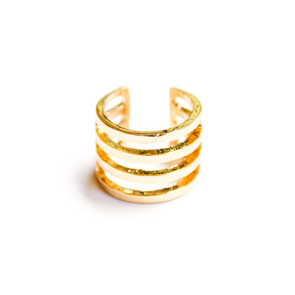 Gold cage ring SNB