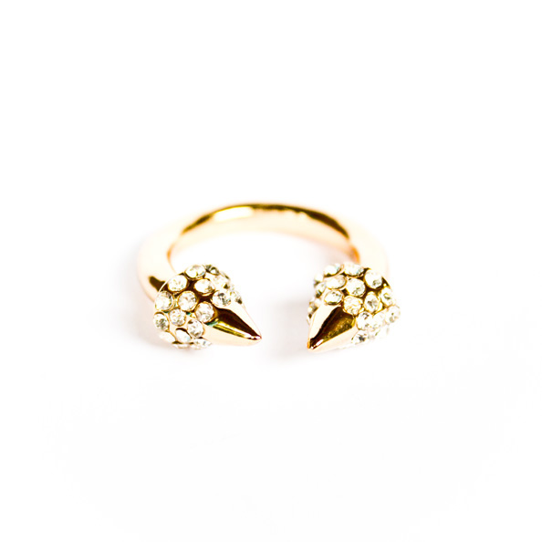 Gold ring with spikes