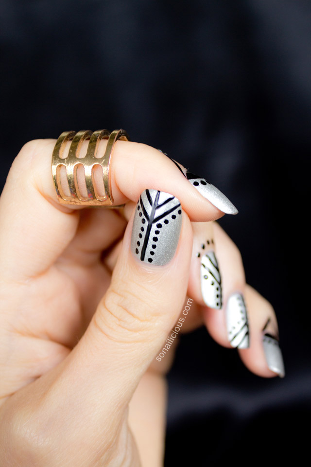 Cuticle nail art are you in black and silver nails prinsesfo Image collections