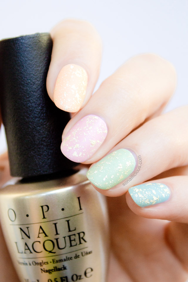 matte pastel easter nails